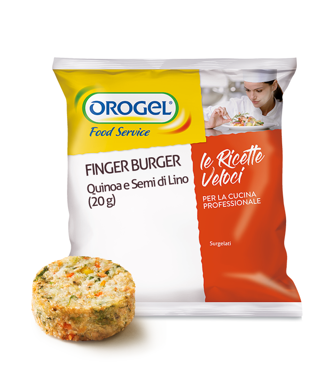 Finger Burgers with Quinoa and Linseeds (20 g)