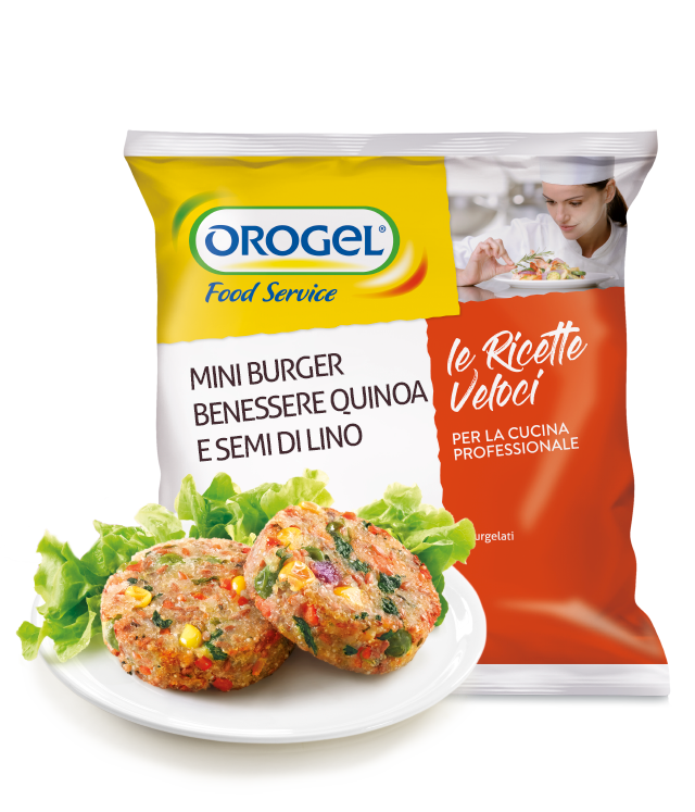 Mini Burger with Quinoa and Linseeds (40 g)