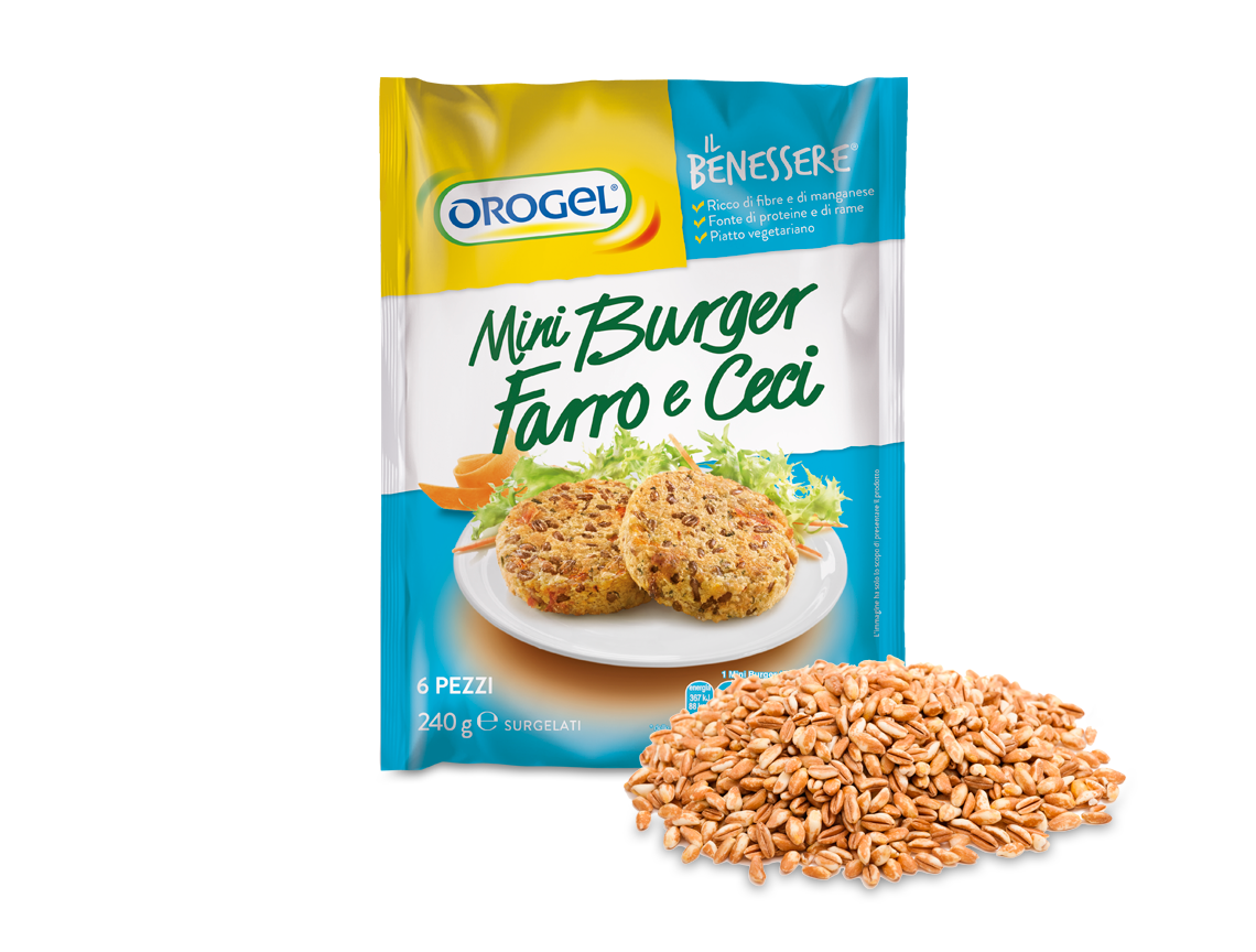 Mini Burger di Farro e Ceci