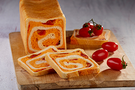 Sandwich bread with tomatoes and oregano